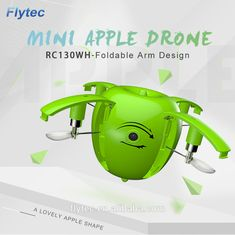 Flytec Flying apple Drone Mini Foldable Drone with HD Camera Wifi FPV Transmission RC Quadcopter Drone With Hd Camera, Foldable Drone, Wifi, Apple, Apple Fruit, Apples