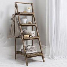 wooden ladder storage space