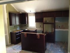 installed the new cabinets