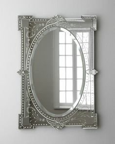 """Nicola"" Mirror at Horchow. I love having one or two mirrors for each room.  This is so feminine and beautiful."