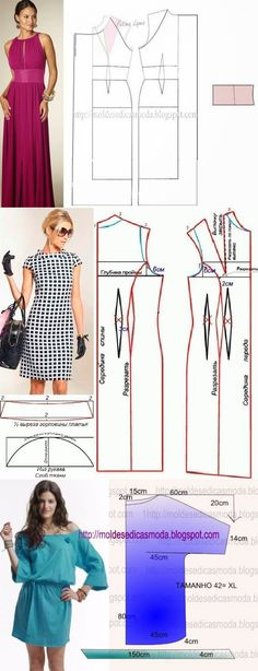 Discover thousands of images about Dress pattern Dress Tutorials, Sewing Tutorials, Diy Clothing, Sewing Clothes, Dress Sewing Patterns, Clothing Patterns, Diy Fashion, Fashion Dolls, Diy Vetement
