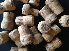 Recycled champagne corks - great for crafts!