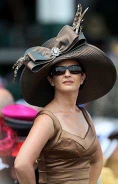 The awesome part is..... I actually know this beautiful woman! 138th Kentucky Derby Hats 2012