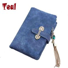 Wallet women card holder female wallet women luxury brand organizador women's purse clip Vintage Matte Hasp Suede pendant wallet