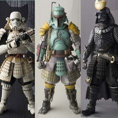 Star Wars Action Figures Stormtrooper Darth Vader Boba Fett Sic Samurai Taisho 17cm Realization Anime