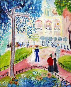 Från Berzelii Park by Isaac Grünewald Henri Matisse, Watercolor Bird, Watercolor Paintings, Modernisme, Garden Park, Uppsala, Global Art, Postmodernism, Art Market