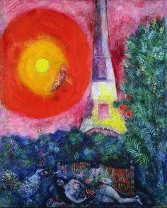 Marc Chagall「La Tour Eiffel」