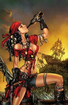 Pirate Wench ... this is why the rum is always gone.