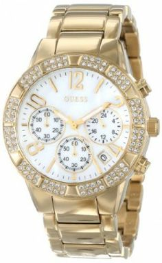 559c21597960b Relógio GUESS Women s U0141L2 Yellow Gold-Tone Crystal Sport Chronograph  Watch  Relogios  Guess