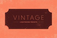 Vintage Lightroom Presets by Prixel Creative  on @creativemarket
