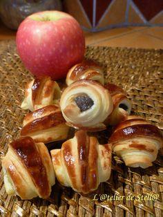 Croissants aux pommes et boudin au thym