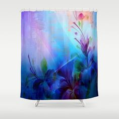 Sunset Painterly Floral Shower Curtain by Judy Palkimas - $68.00