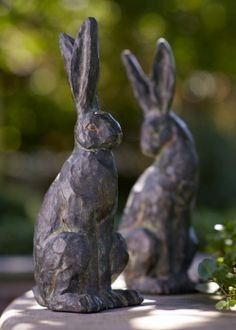 garden rabbits * my Mothers nic name was Bunny. I love having rabbits tucked away in my garden and home as a little remembrance  of her..