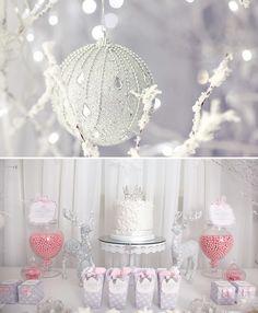 Whimsical+&+Wintery+Snow+Princess+Dessert+Table