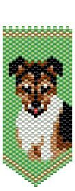Jack Russell Panel Pin by Deb Moffett-Hall aka Patterns to Bead