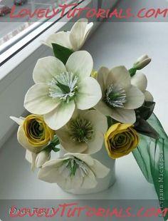 Christmas rose (Hellebore) Flower tutorial gumpaste flower tutorial