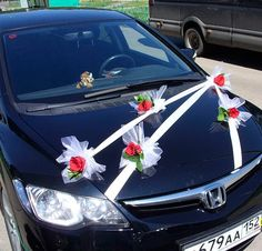 Stylové svatební dekorace na auto Blue Wedding, Fall Wedding, Diy Wedding, Wedding Flowers, Wedding Photos, Wedding Cars, Paper Heart Garland, Bridal Car, Wedding Blessing