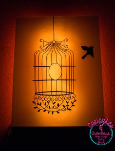 Flying the Coop Bird Cage Vinyl Wall Decal for Wall Room Decor from Wallternatives - DIY by Cupcakes & Crowbars