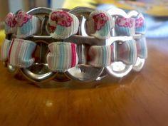 pop tab bracelet with ribbon .. love it