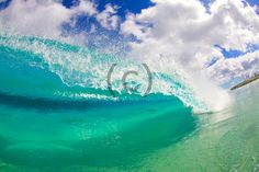 Hawaii Crystal Blue Wave 15 by bestsurfstockphotos on Etsy, $5.00