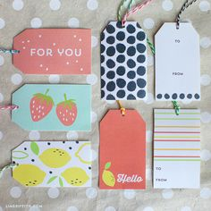FREE Printable Summer Fruit Gift Tags