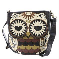 Loungefly Large Owl Crossbody Bag | shoemall | free shipping!