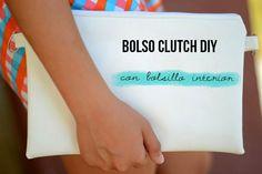 Bolso tipo clutch con bolsillo interior | Manualidades