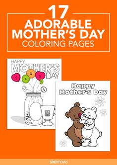 Mother's Day Coloring Pages: Pin it and save it for later!