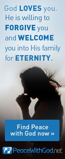 God Loves you. He is willing to forgive you and welcome you into his family for eternity.