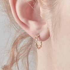 1ffd64ba1 Gold and Diamond Hoop Earrings - April birthstone gift – Ruth Tomlinson  Diamond Hoop Earrings,