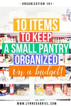 Organization Ideas: 10 Items To Keep A Small Pantry Organized Got a small pantry and looking for ideas to keep it organized? Check out these 10 organization items that will keep your small pantry super organized on a budget! Organisation Hacks, Deep Pantry Organization, Craft Organization, Pantry Ideas, Kitchen Ideas, Declutter Your Home, Organizing Your Home, Organizing Tips, Farmhouse Kitchen Interior