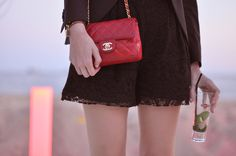 The cutest red Chanel handbag