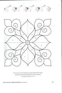 Affairs of the heart - Eva Barba Alencar - Picasa Web Albums Quilting Stencils, Quilting Templates, Stencil Patterns, Applique Patterns, Zentangle Patterns, Longarm Quilting, Free Motion Quilting, Hand Quilting, Machine Quilting