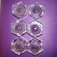 Crystal Salt Cellars Salt Dishes Vintage serving starburst pattern vintage salt cellars set & EAPG 5 Open Salts Assorted Patterns Vtg by ...