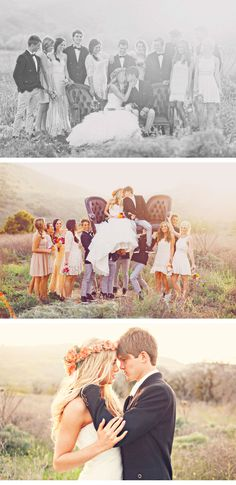 MY DREAM WEDDING THEME. Boho wedding <3 the bride is so beautiful! i love the flower crown she has on.. so pretty