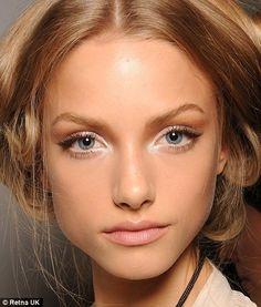 Pretty light colored makeup