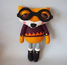 Errol the Fox handmade plush creature by CreaturesandCream