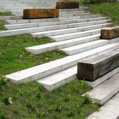 wooden benches, landscap architectur, rehwaldt landscap, landscape architecture, seat, wood blocks, wooden blocks, outdoor stairs, garden stairs