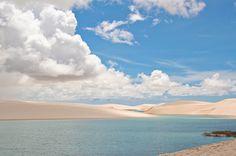 Very unique landscape, the Lençois Maranhenses. Imagine a sand dunes desert with fresh water lagoons. The water is crystal clear and warm. It´s located in the northeast region of #Brazil few hours north of #Fortaleza.