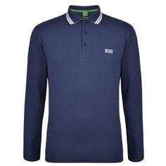 Boss Green   Trim Collar Long Sleeved Polo   Flannels  boss  bossgreen   newseason f2d40a84bee6