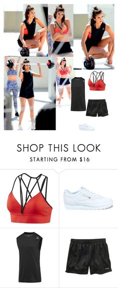 """Outfit #864 Nina Dobrev"" by nmr135 ❤ liked on Polyvore featuring Reebok, NinaDobrev, workout and nmr"