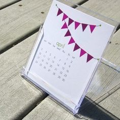 printable calendar that fits into a CD case...