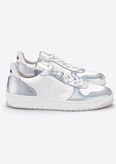 db4ae8f6c3516 Shop the VEJA V-10 Leather Mesh Trainers - Arctic Unicorn online at The  Dressing