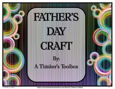 Father's Day Craft - Toolbox and Briefcase by A Thinker's Toolbox