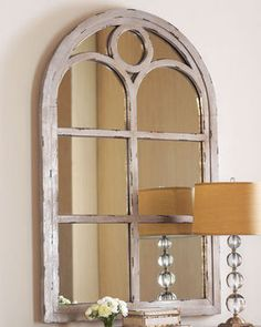 Arch Wall Mirror white arch window frame mirror | for the kauffmansion | pinterest