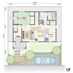 35.06坪,南玄関,の三井ホーム株式会社が提供する間取りプラン。南側に3室を配し、LDKと和室がゆるやかにつながる広がりあるプランです。。All Aboutが運営する間取り検索サイトの詳細画面です。