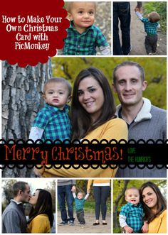 Make your own Christmas cards with PicMonkey! Easy DIY Christmas Card tutorial on www.mommyenvy.com