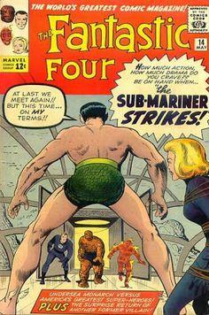 Fantastic Four #14. The Sub-Mariner returns.  #FantasticFour #SubMariner #Namor