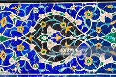 Stock-Foto : Uzbekistan, Silk Road, Samarkand, Shah I Zinda Necropolis, Mosaic detail