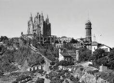 Basílica del Sagrado Corazon en la cumbre del Tibidabo (1902-1961) Archivo Alfredo Zerkowitz